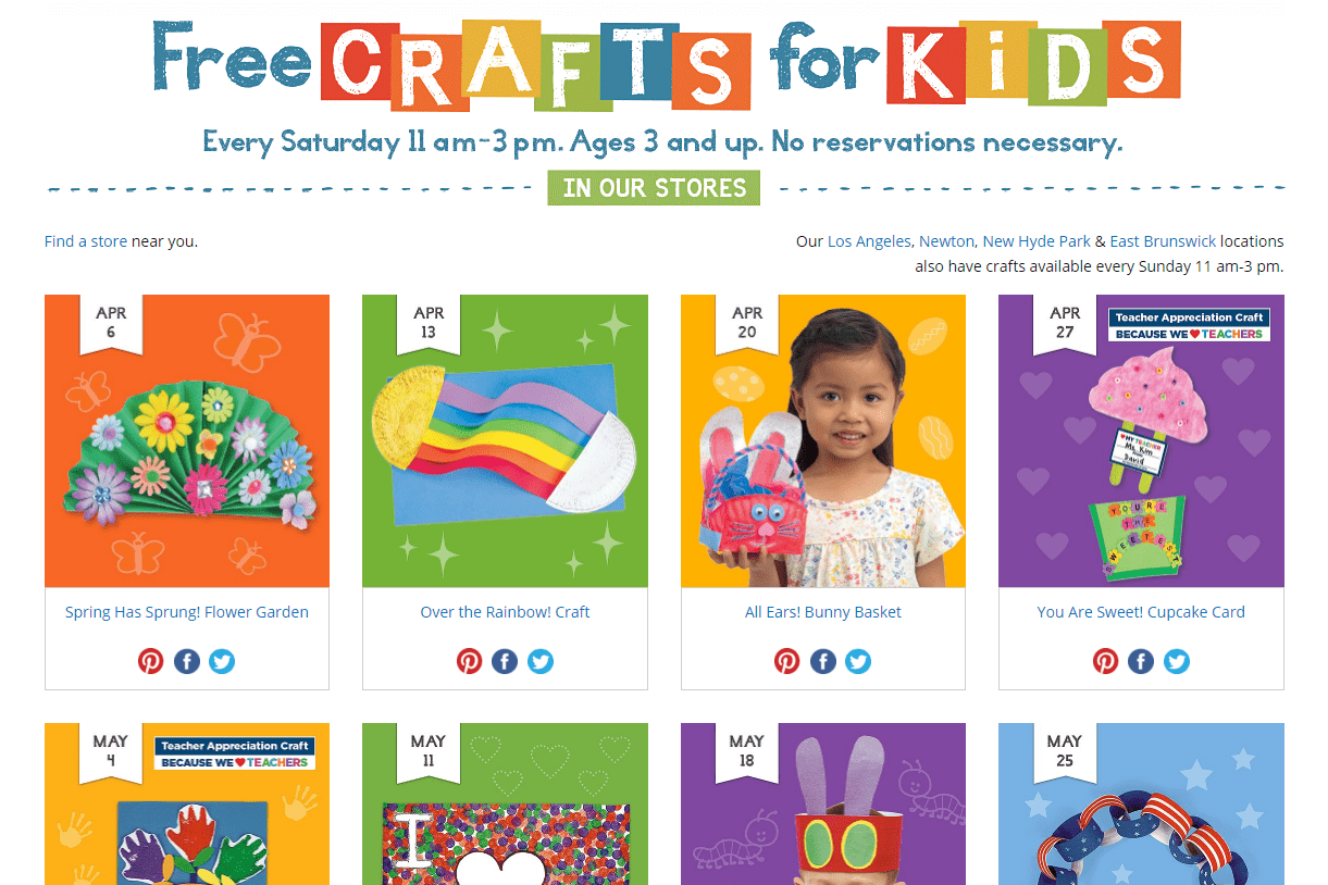 Free Lakeshore Learning Classes For Kids