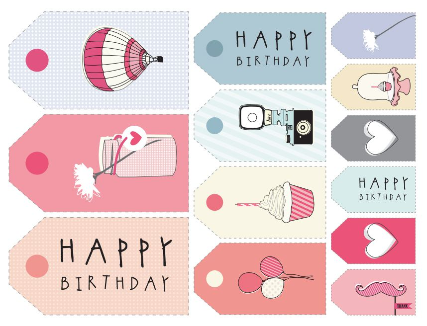 11 sets of free printable gift tags for anytime of year negle Choice Image