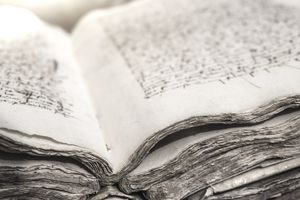 the ancient pages of a book