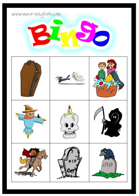 23 Sets of Free, Printable Halloween Bingo Cards