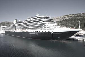 Cruiseship Nieuw Amsterdam (Holland America Line) in Port of Gruz.