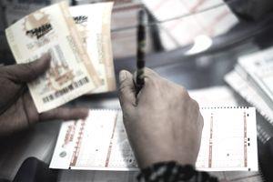 Photo of Mega Millions tickets.