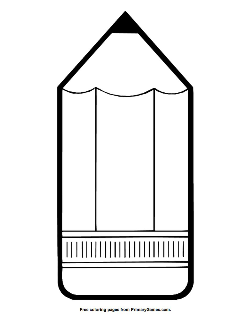 Primary Games Back To School Coloring Pages A Large Pencil