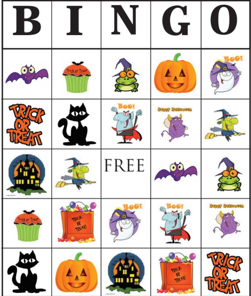 This is a graphic of Impertinent Printable Halloween Bingo Cards