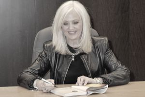 Rhonda Byrne Signs Copies Of One of Her Books