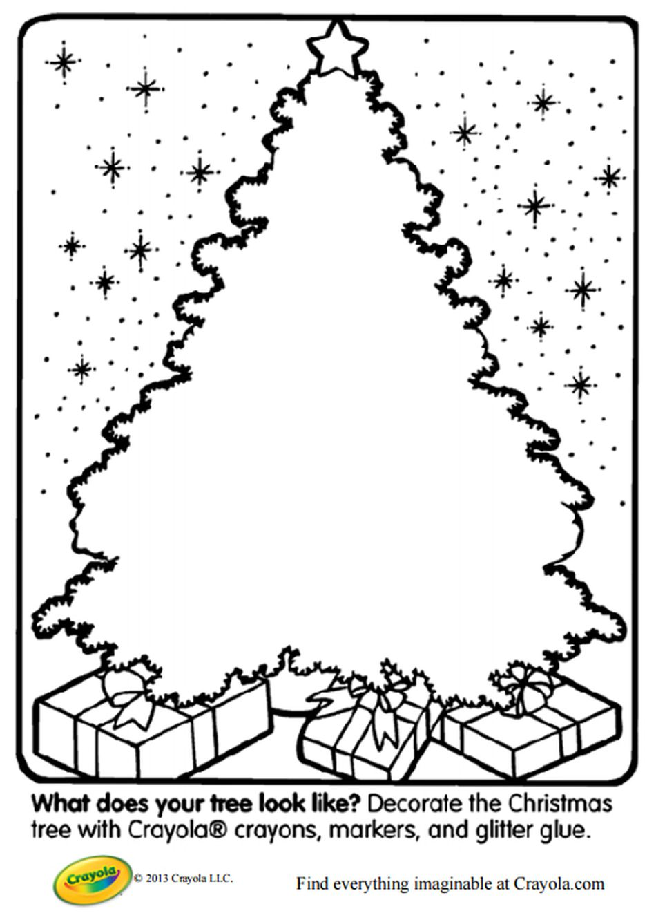 Create Your Own Christmas Tree Coloring Page At Crayola
