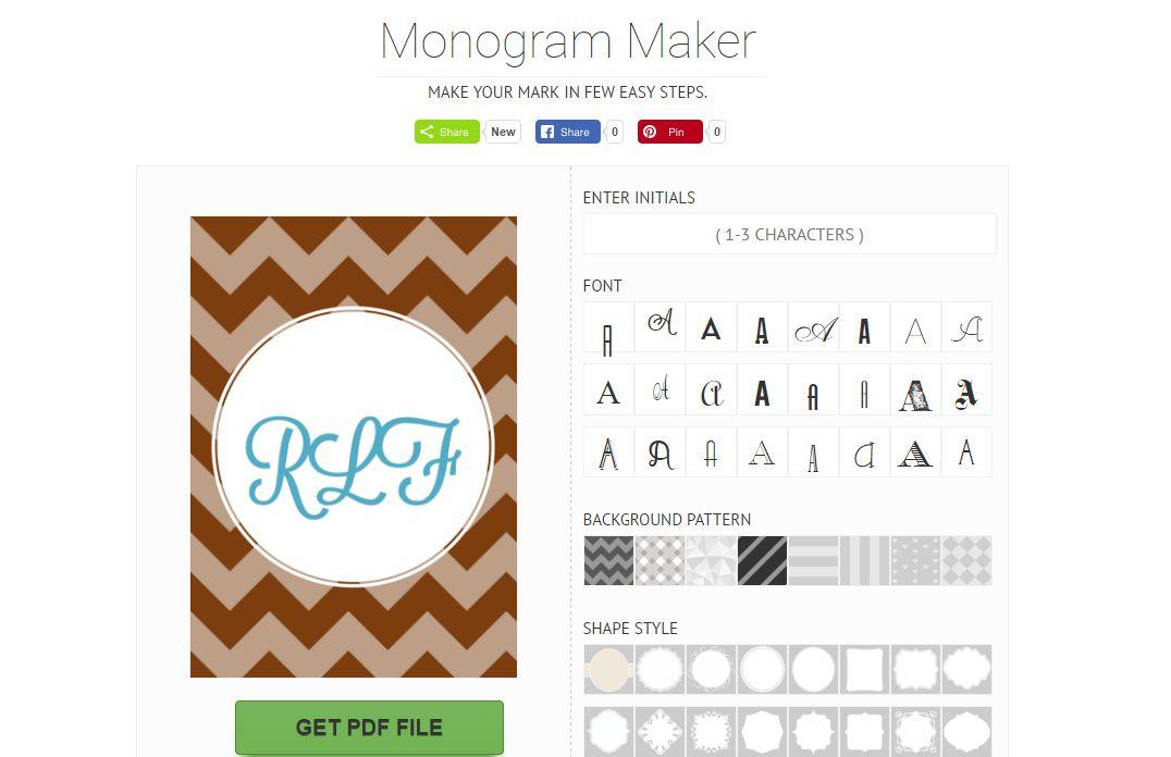 5 free monogram generators and makers spiritdancerdesigns Choice Image
