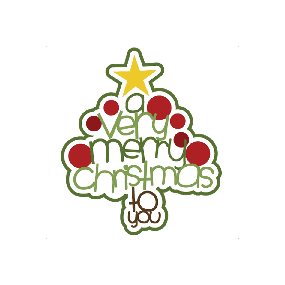 A Christmas Tree That Spells Out Very Merry To