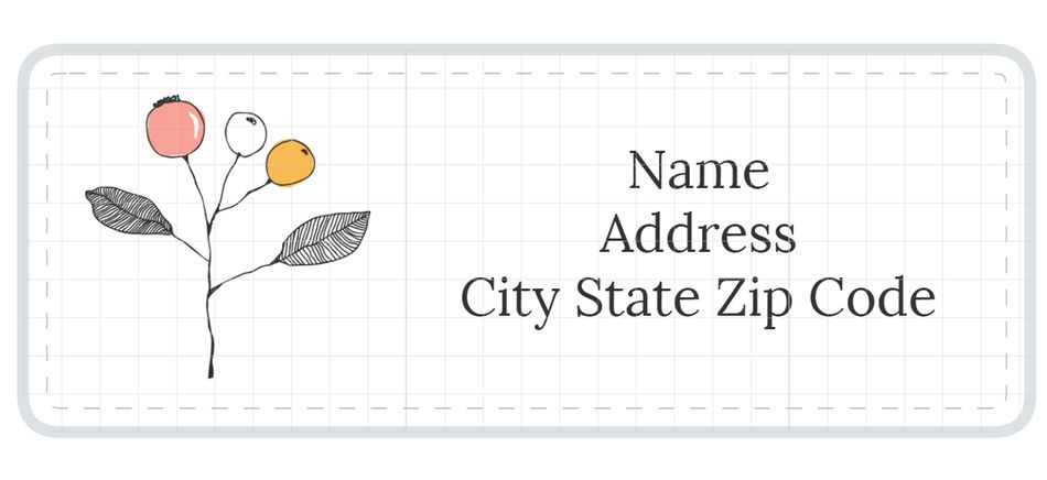 Address Label Templates - Mailing address label template
