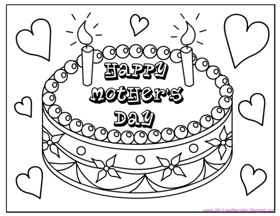 coloringtops free mothers day coloring pages