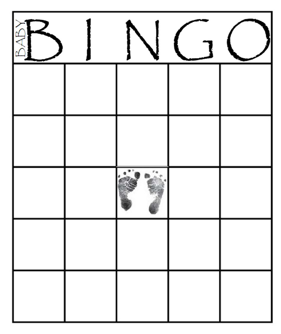 This is a photo of Smart Free Printable Baby Shower Bingo Cards