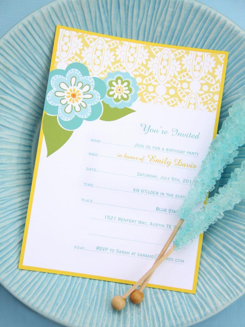 17 free printable birthday invitation templates a blue green and yellow floral birthday invitation filmwisefo