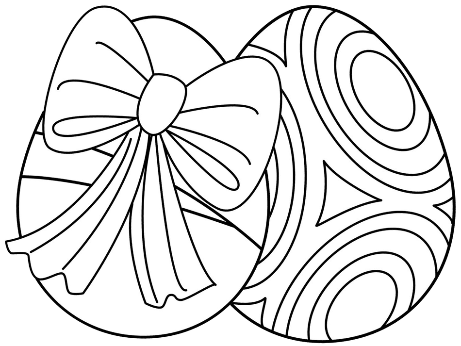 Hello Kids Easter Egg Coloring Pages