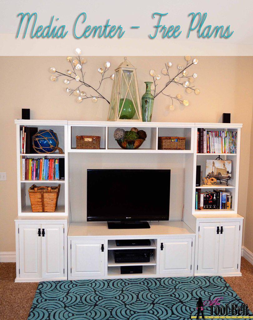 10 Free Entertainment Center Plans – Home Entertainment Furniture Plans