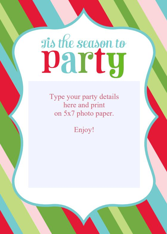 15 free christmas party invitations that you can print stopboris Gallery
