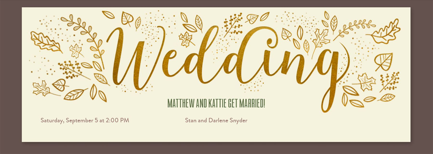 Marriage invitation card online free