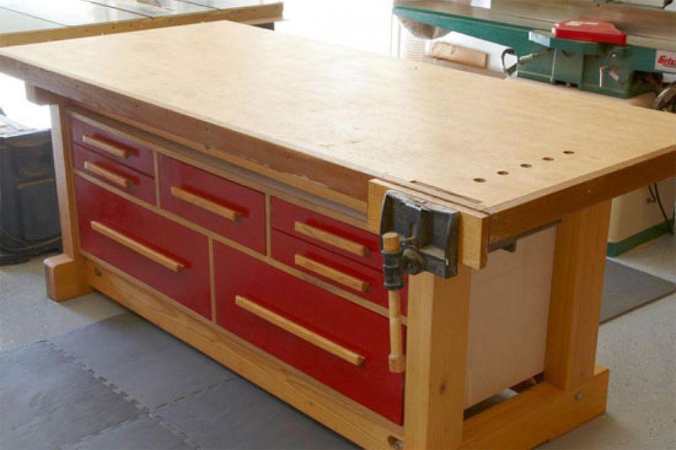 17 free workbench plans and diy designs double duty workbench plan from wood magazine keyboard keysfo Gallery