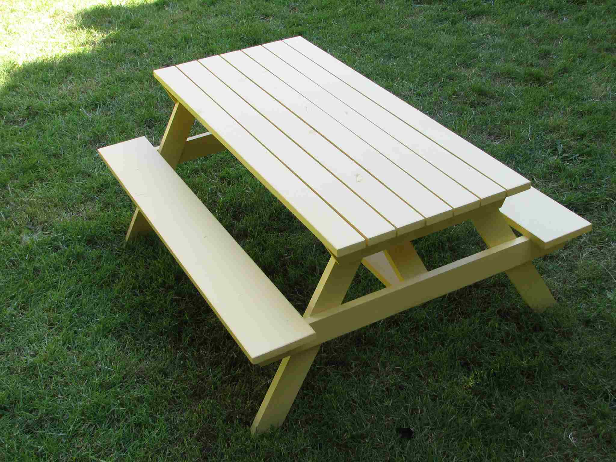 15 free picnic table plans in all shapes and sizes watchthetrailerfo