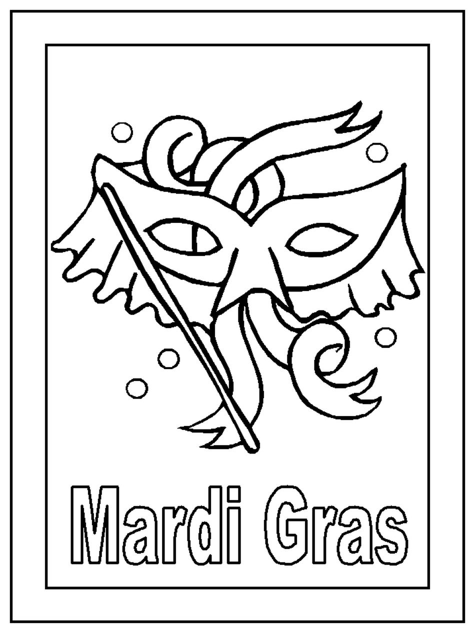 DLTKs Free Mardi Gras Coloring Pages