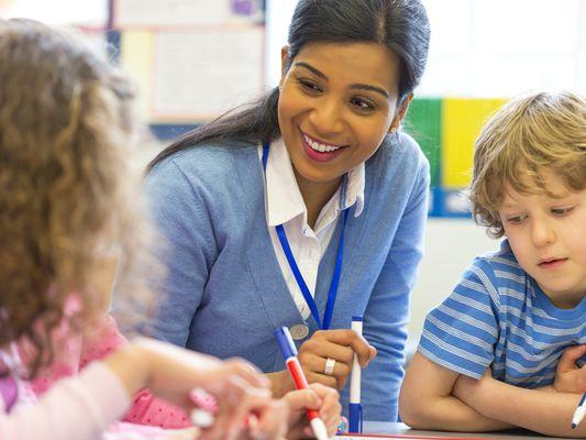 Little Artist with their Teacher