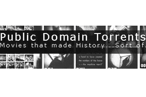 Screenshot of the Public Domain Torrents website