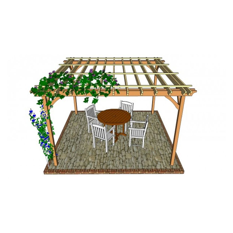 Patio Pergola Plan from My Outdoor Plans - 17 Free Pergola Plans You Can DIY Today