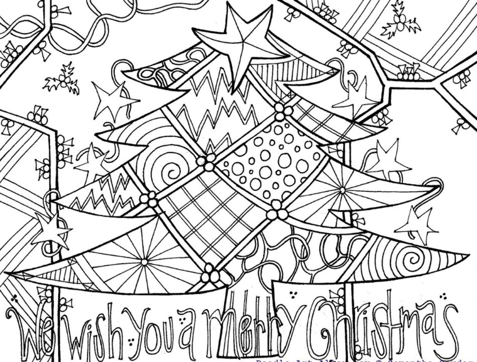 Christmas Coloring Pages By Doodle Art Alley