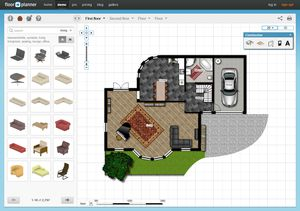 A screenshot of the FloorPlanner program