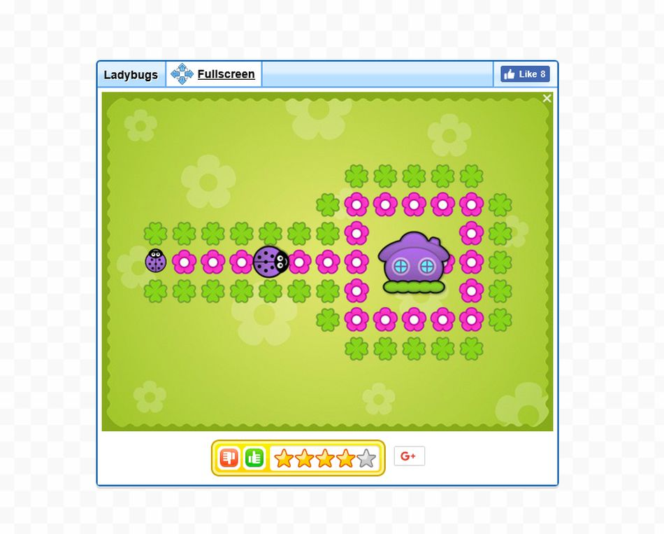 An online ladybug maze