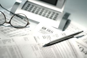 Calculator and tax forms