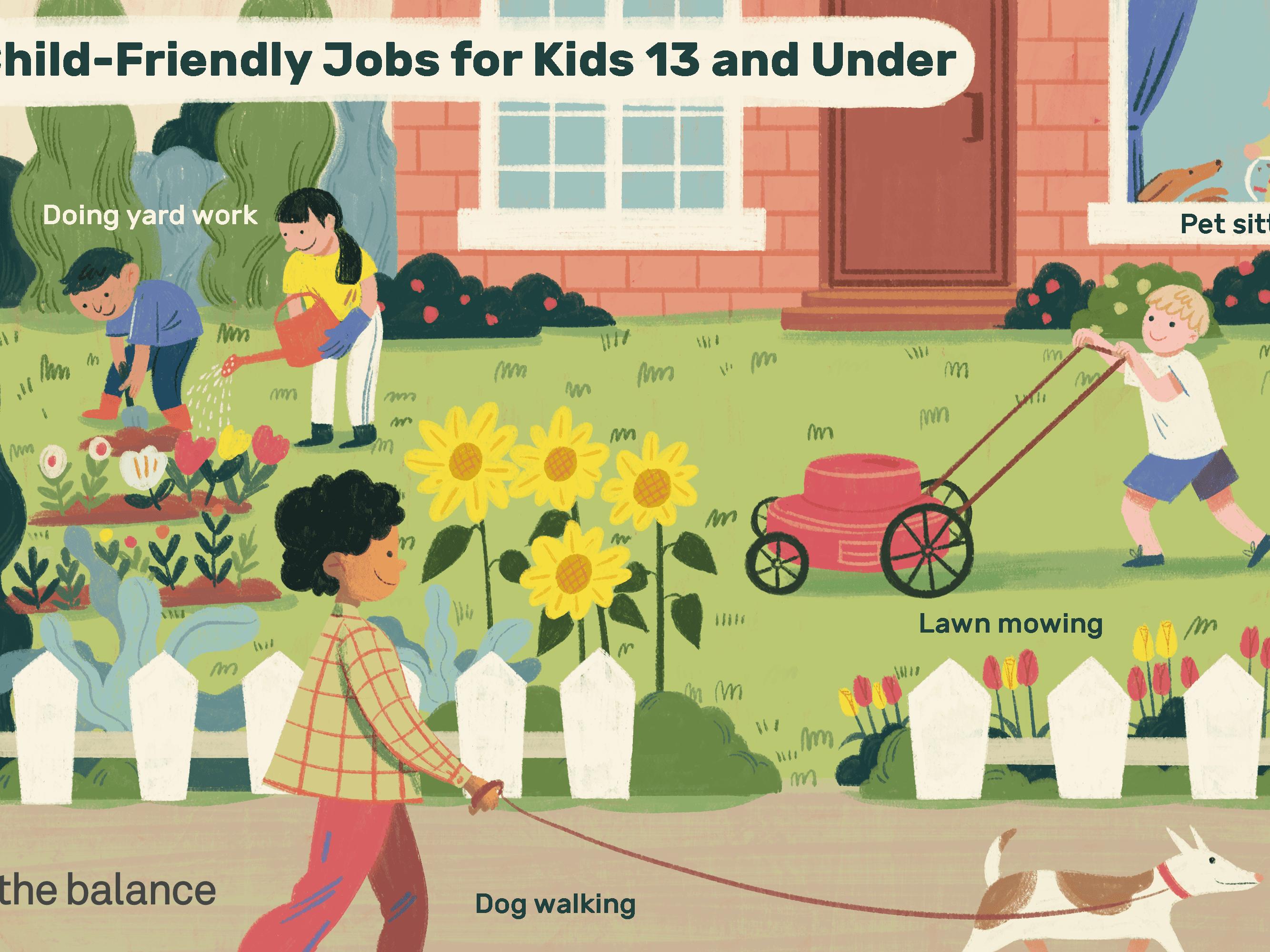 Best Jobs For Kids Under 13