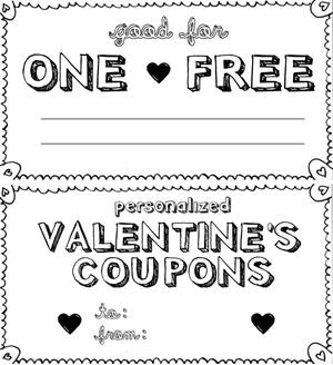 Free printable love coupons and coupon templates personalized valentines day coupon book by kind over matter solutioingenieria Image collections