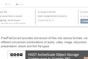 Screenshot of the FreeFileConvert website