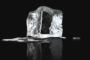 a melting ice cube