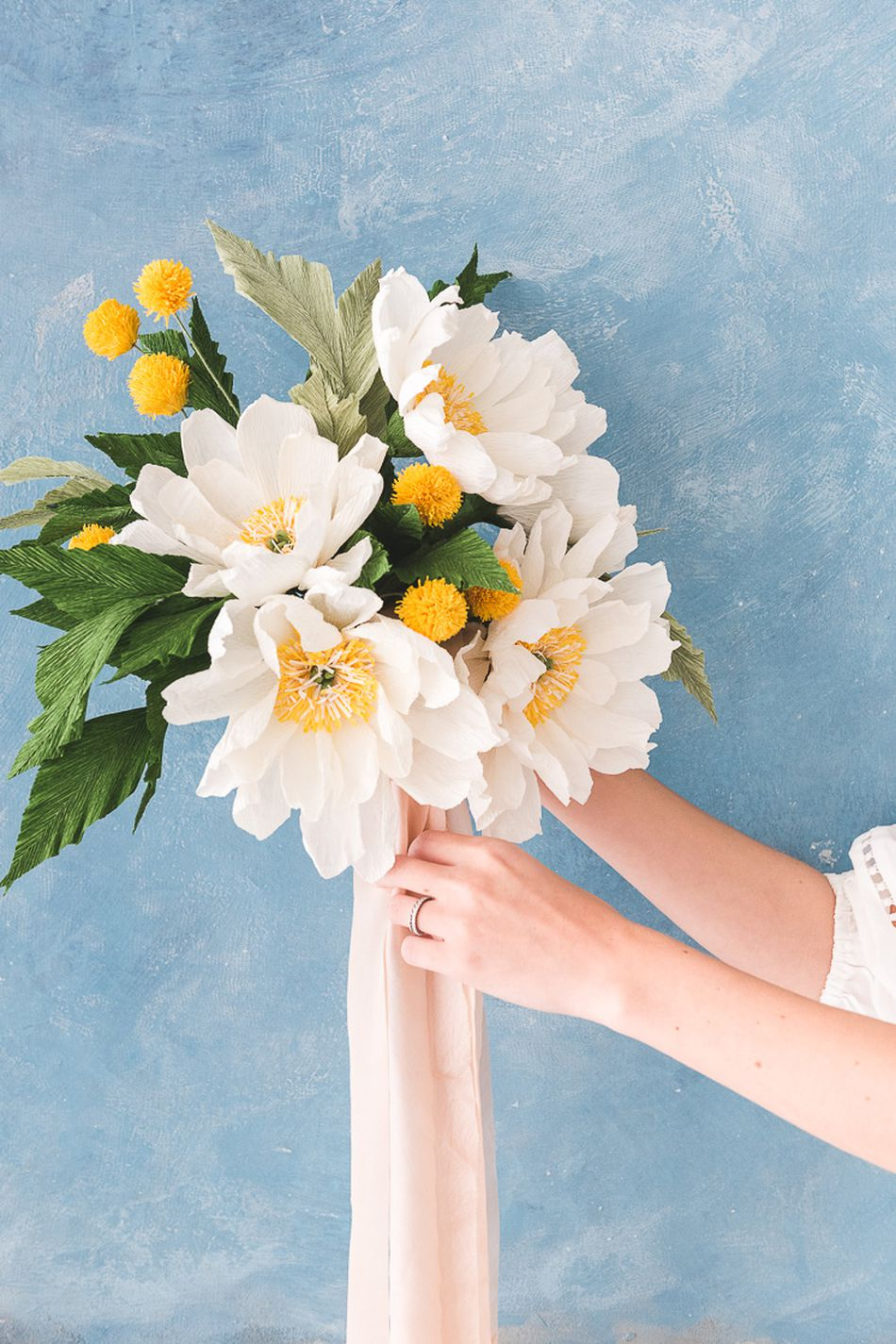 11 diy paper flowers you can make for all occasions paper flower wedding bouquet from the house that lars built izmirmasajfo