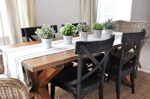 Free X Brace Farmhouse Table Plan From Cherished Bliss