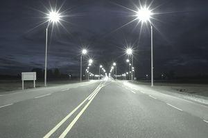 Lights on highway