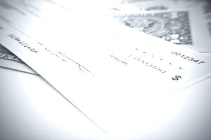 Image of a fake check.