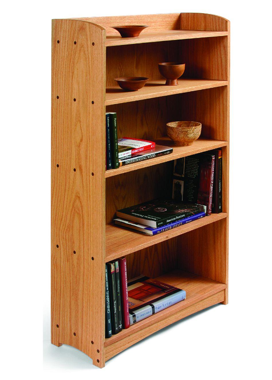 Oak Bookcase Plan From Start Woodworking