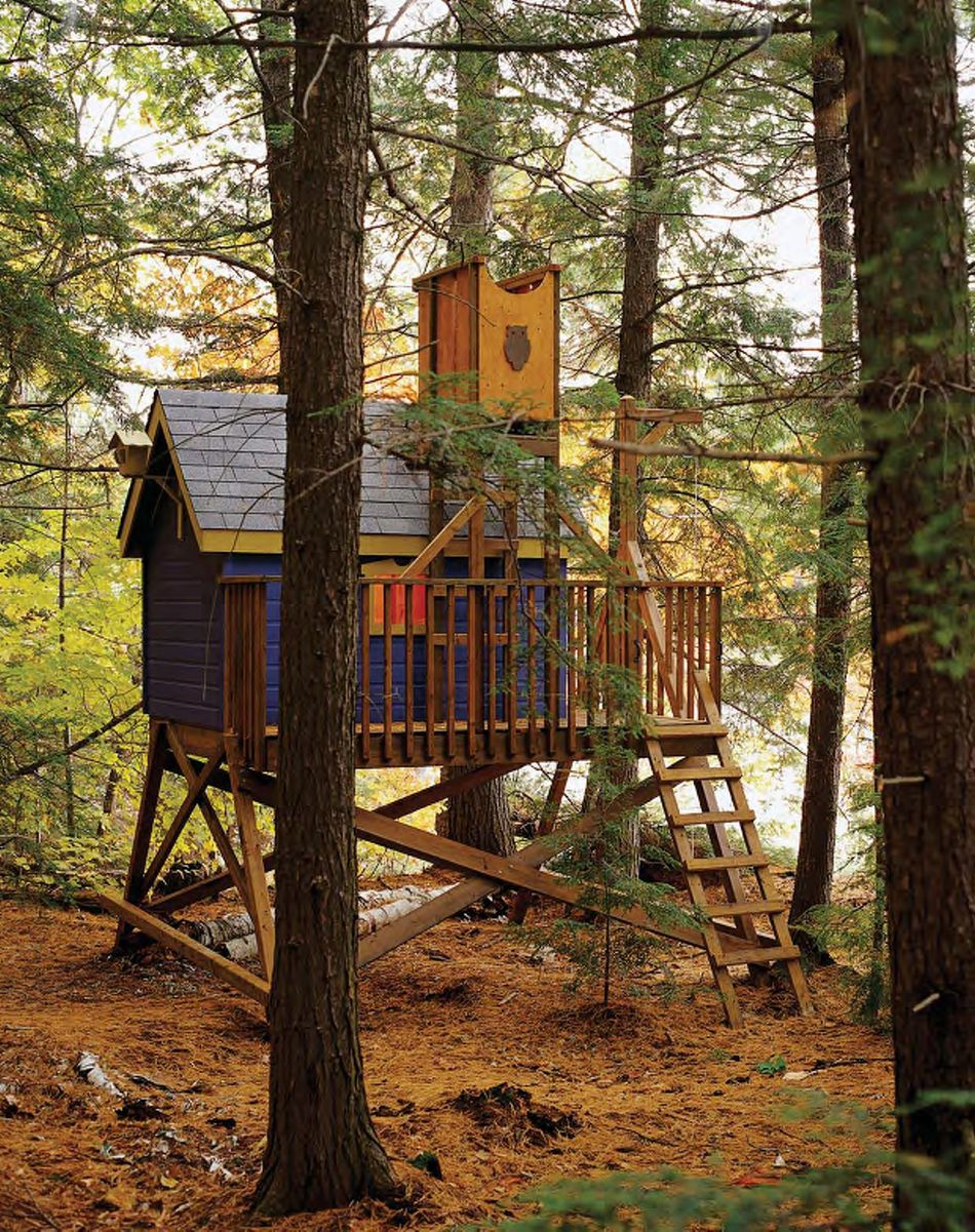 11 free diy tree house plans deluxe tree house plan from the wood plans shop malvernweather Choice Image