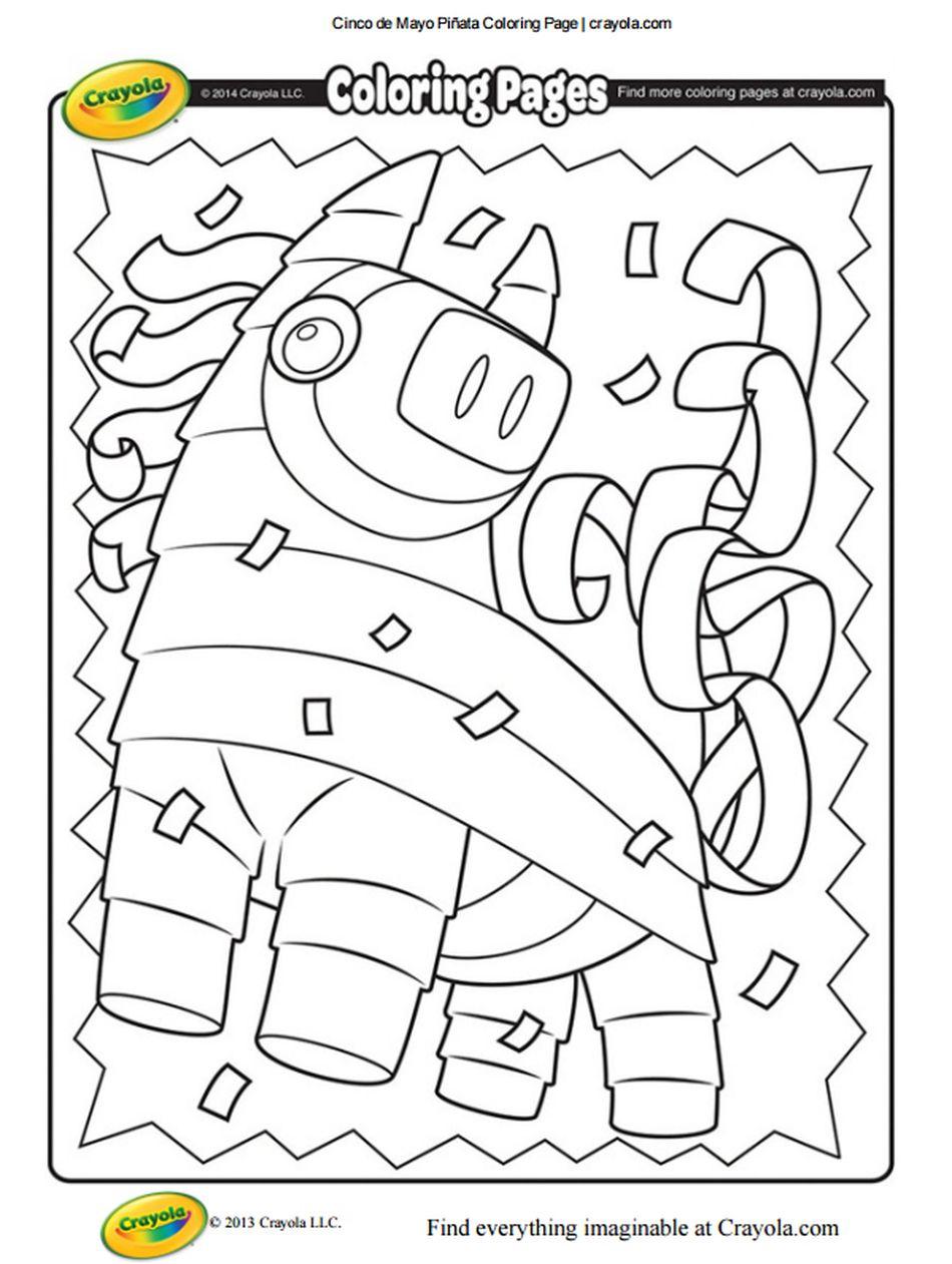 Cinco De Mayo Coloring Pages At Crayola