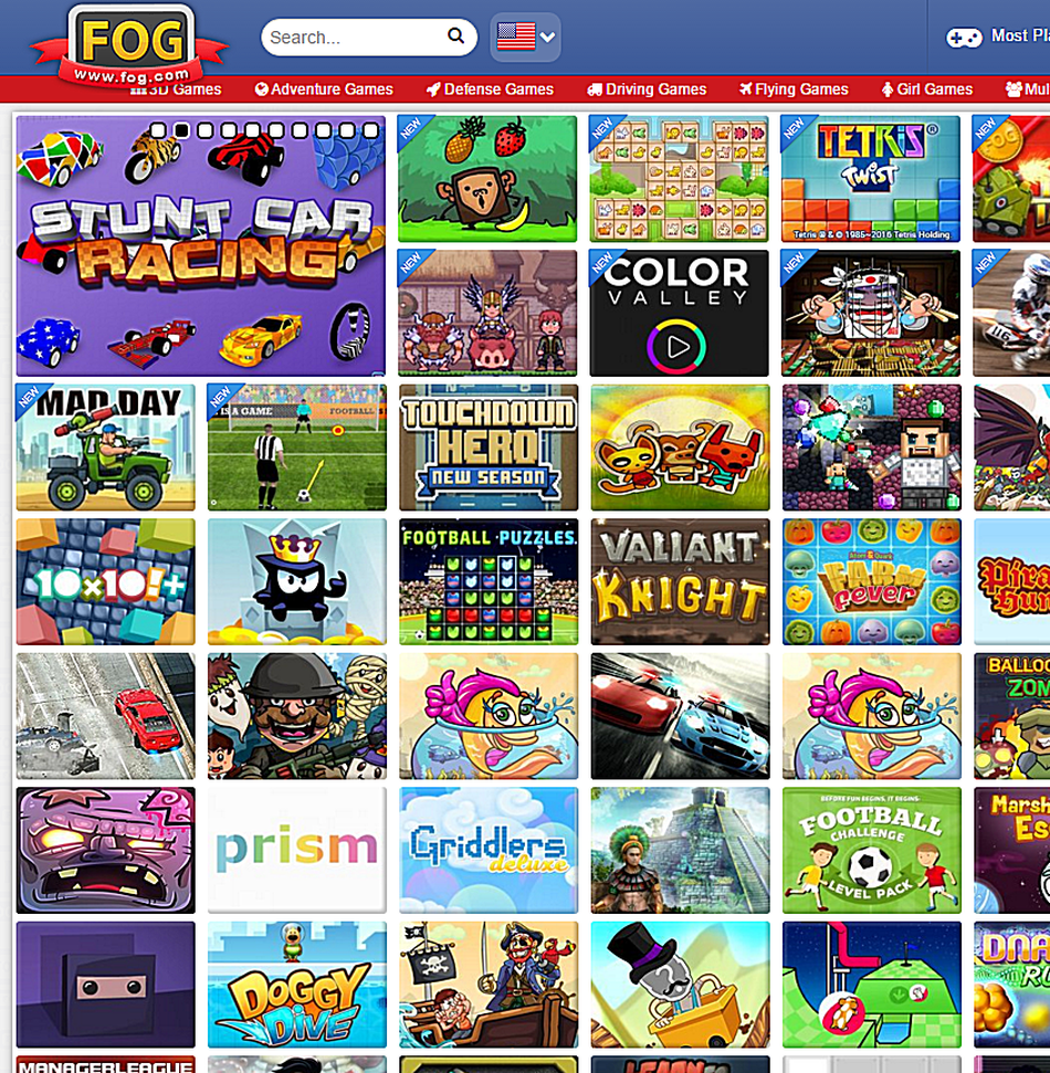 websites where you can play free online games