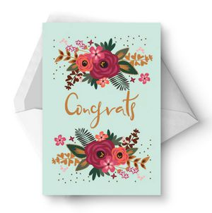 10 free printable wedding cards that say congrats floral congrats wedding card from greetings island m4hsunfo