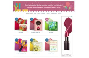 A screenshot of the birthday ecard section at Punchbowl