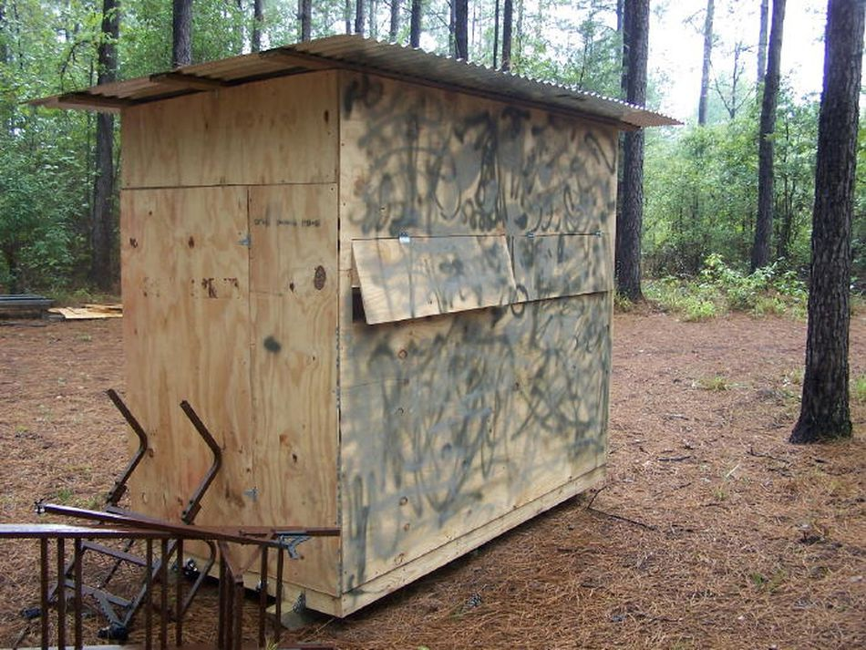 11 free deer stand plans in a variety of sizes the outdoor texans free deer blind plan solutioingenieria Image collections