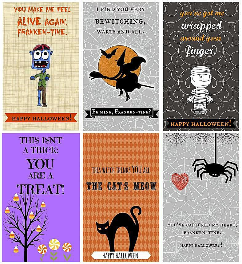 It is a graphic of Tactueux Free Printable Halloween Cards