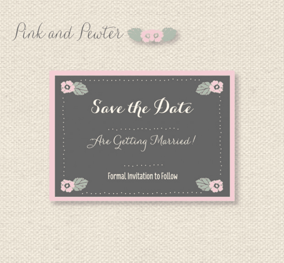 Free save the date templates pink and pewter free save the date templates from want that wedding flashek Gallery
